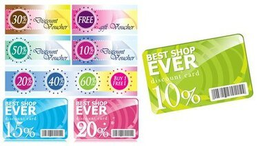 Fashion Discount card and discount coupons template vector m