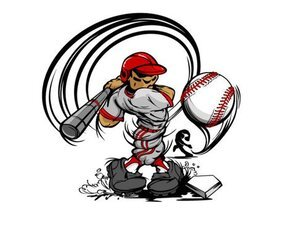 Baseball-Cartoon-Figur 04