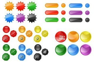 Glossy Buttons Free Vector Art
