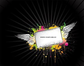 The trend of the ink vector wings bulletin board material