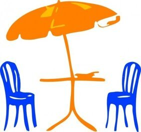 Seats With Umbrella