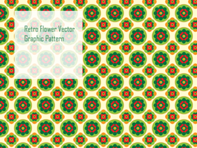 Retro Flower Vector Graphic Pattern
