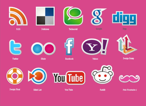 Free Social Icons Vector Set