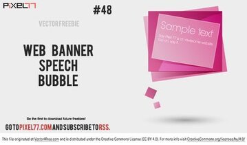 Web Banner Speech Bubble