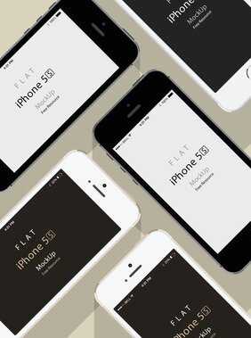 iPhone Mockup do 5S Psd Flat Design