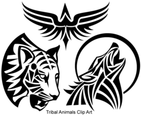 Animaux Tribal gratuit Vector Art