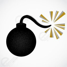 Bomb vector icon illustration