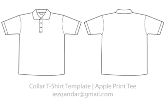 Vector Collar Tee Template