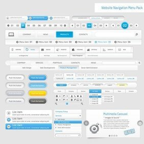 Web Design Navigation Menu 05