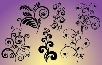 Set of Flourish Curves & Curls