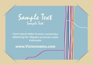 Postcard Vector With Colorful Lines