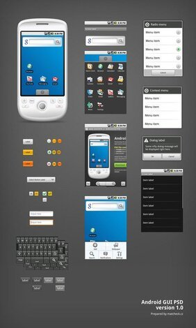 Android GUI PSD