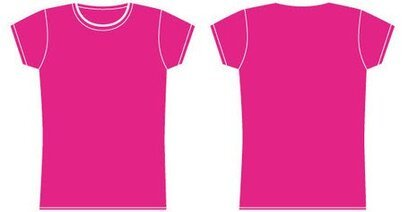 Girls t-shirt template