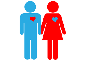 Love Couple Pictogram Vector Art