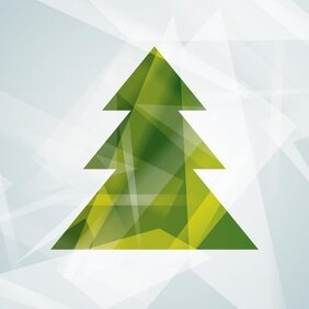 Abstract Modern Christmas Tree