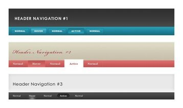 Header & Navigation Pack