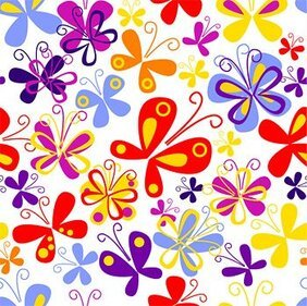 Colorful butterfly vector background material