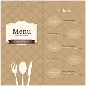 Continental menu template 10