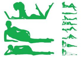 Lying Women Silhouettes