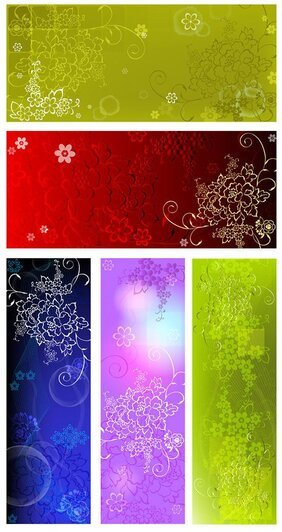 Embossed flower pattern background background