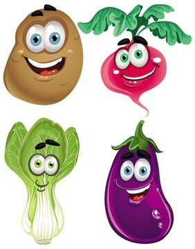 Vegetable cartoon image 04
