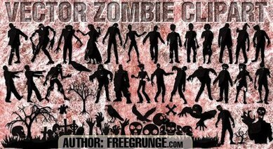 Zombie vector clipart