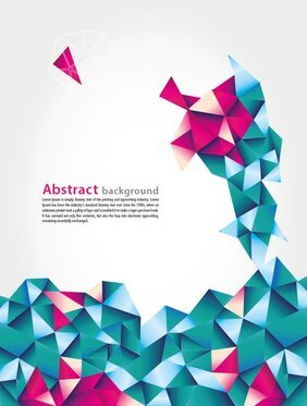 Abstract Geometric Vector Background With Blue And Pink Triangles