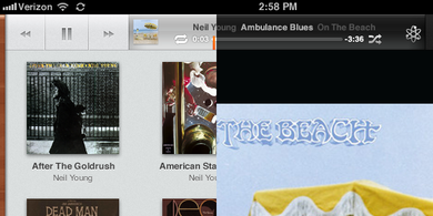 iOS5 iPad Music App