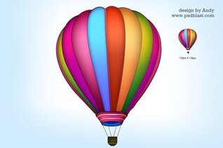 Air balloon icon PSD