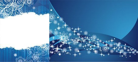 2 blue snowflake background