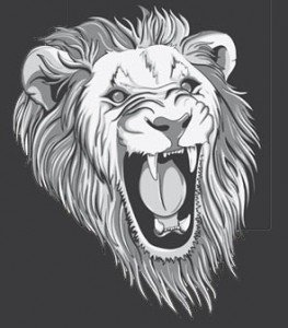Stock Illustrations Raging-Lion