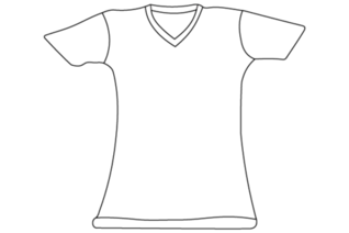 T-Shirt Vector sjabloon Illustrator