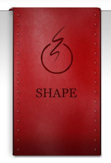 Red Leather Drape Badge