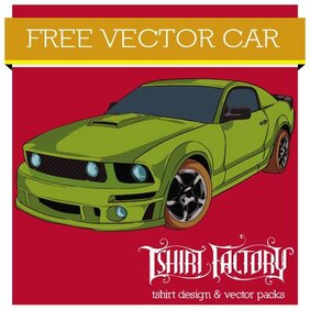 AUTO deportivo FORD MUSTANG VECTOR.eps