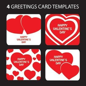 Valentine's Day heart-shaped greeting card template vector m