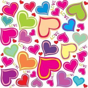 Cute Hearts Background