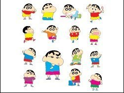 Vector one of the series Crayon Shin-chan