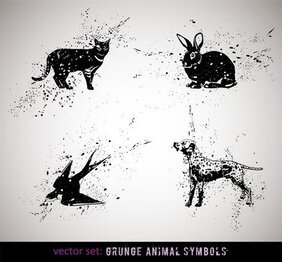 Ink Animals Vector 2