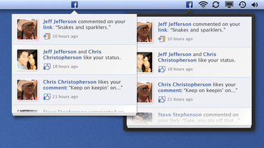 Facebook Notification UI PSD