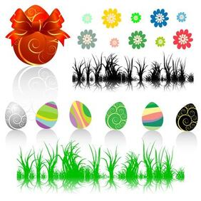 Easter Decorative Element Set