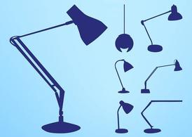 Lamp silhouetten Set