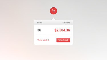 Shopping Cart Widget