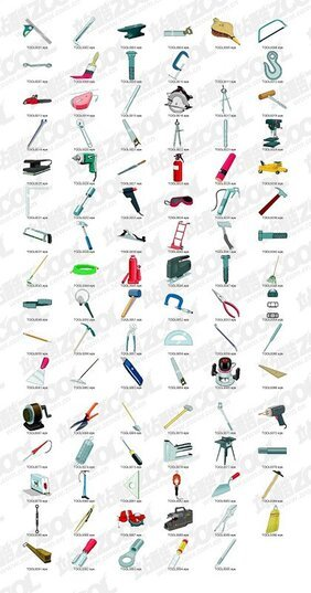 The classic tools for a wide variety of material objects vec