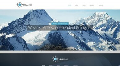 Hexa Website sjabloon - gratis PSD Web Design Templates - afkomstig van Ephlux