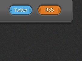 Boutons RSS et Twitter