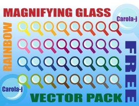 Magnifying Glass Icons Free Vector Pack
