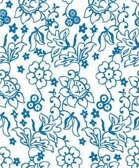 Vector lines cute flower pattern background material