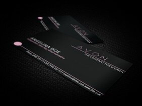 Black Avon Business Card