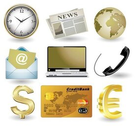 Business website gold icon