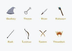 The Hobbit Vectors - Main Characters